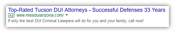 Lawyer Adwords No Extensions