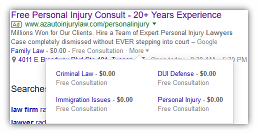 Adwords Extension for Lawyers